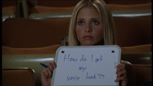 Best episode of Buffy, ever. Except maybe the musical episode.