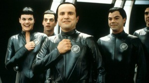 Those Thermians from Galaxy Quest haven't quite mastered the human smile yet...but they're working on it!