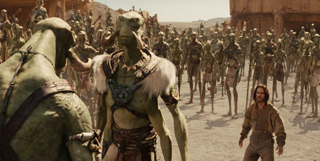 John Carter among the Tharks - What do you think? Should we toss him out, or have fun with him first?