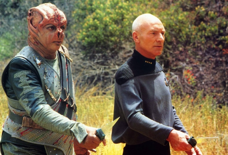 Dathon and Picard intend to confront the beast together...