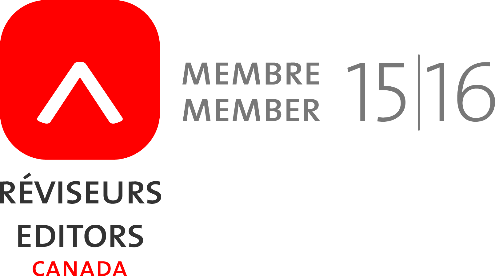 Member of Editors Canada 2015-2016