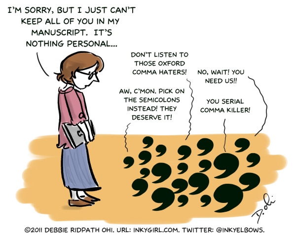 Comma cartoon by Debbie Ridpath Ohi
